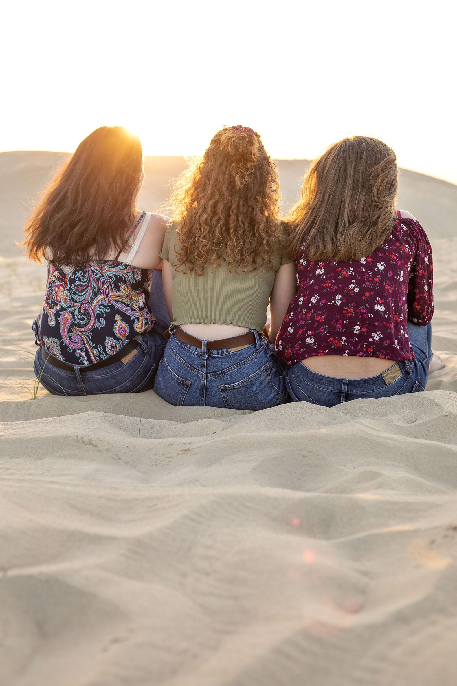 Sunset desert family shoot Dubai